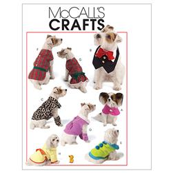 McCall's Pet Clothes Pattern M5998 Size OSZ