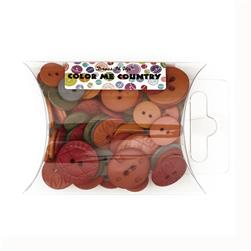 Dress It Up Color Me Collection Pillow Pack Buttons Country Multi