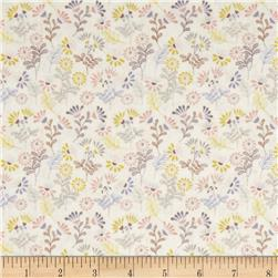Lewis and Irene A Little Bird Told Me Mini Flowers Beige
