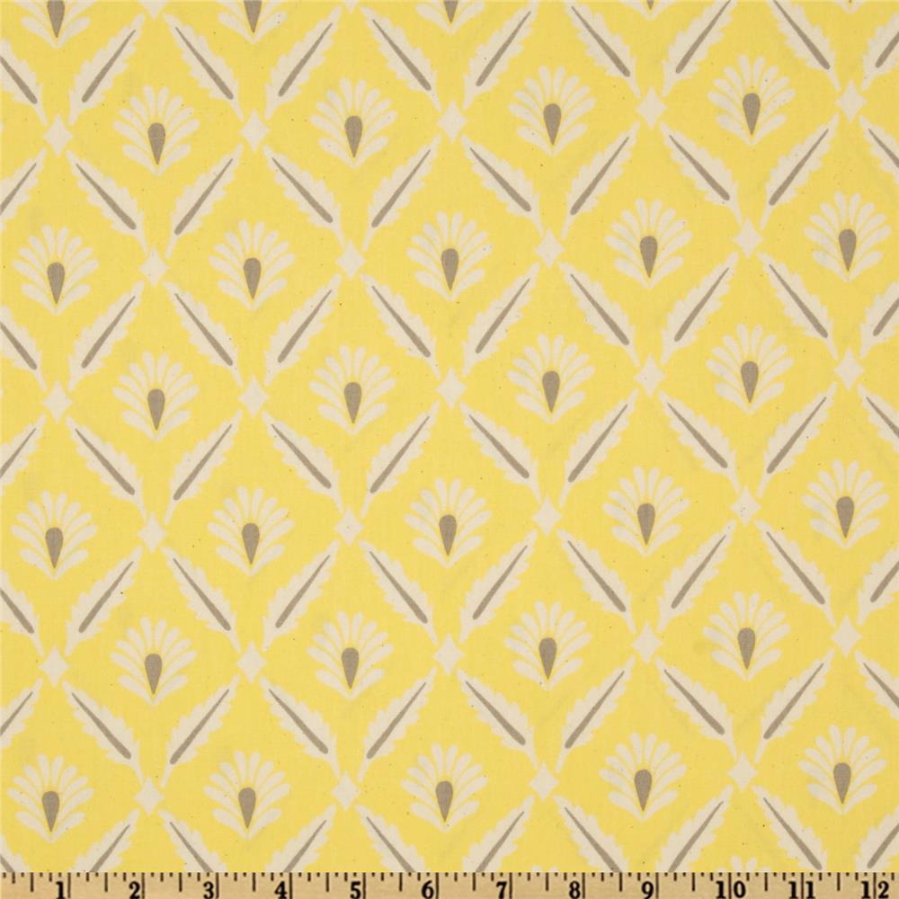 Premier Prints Sheeting Clover Lemon/Natural