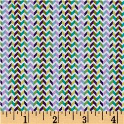 Windham Little Tinies Chevron Stripe  Green