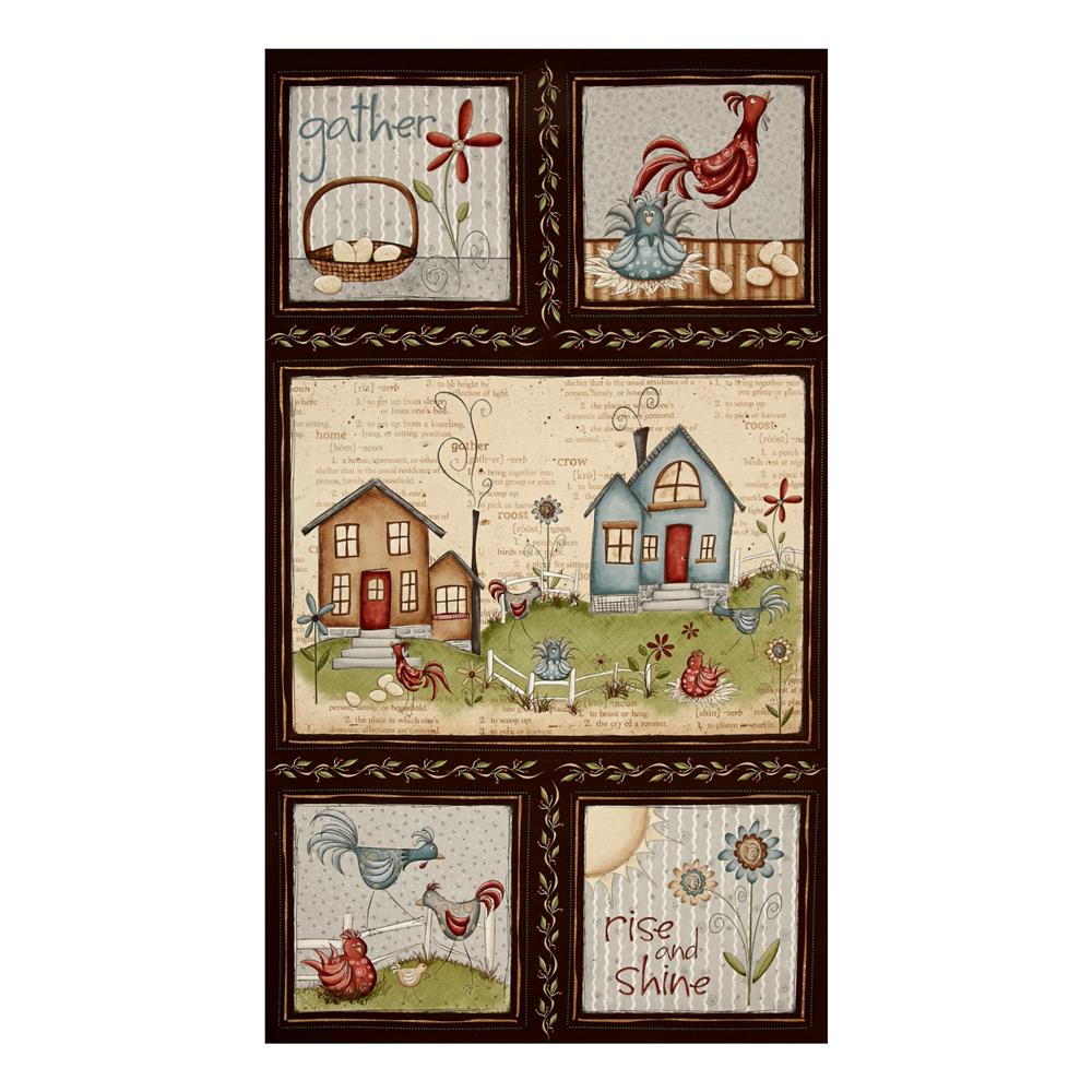 """Home to Roost 23.5"""" Panel Brown"""
