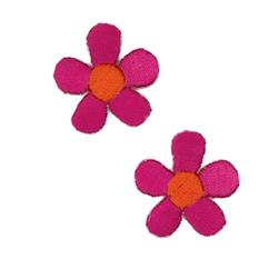 Boutique Applique Flowers Pink