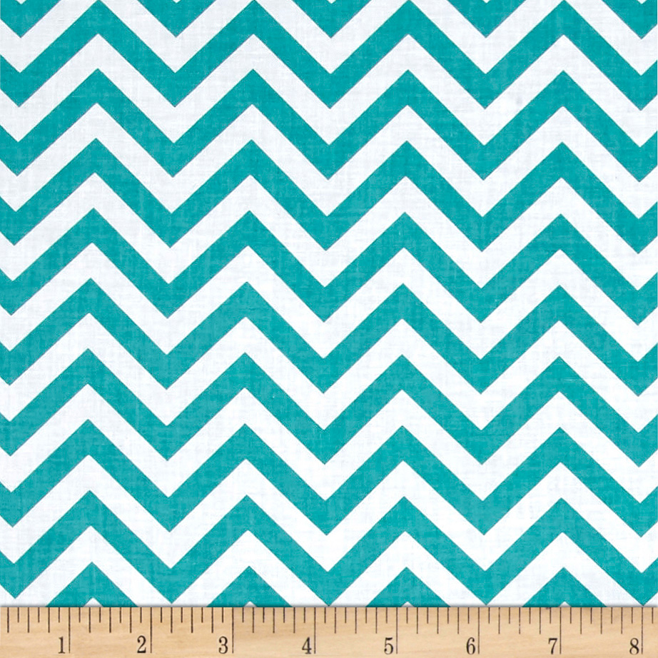Bro.ther Sis.ter Chevron Stripe Aqua Fabric