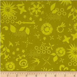 Sun Prints Corsage Ships Green Fabric