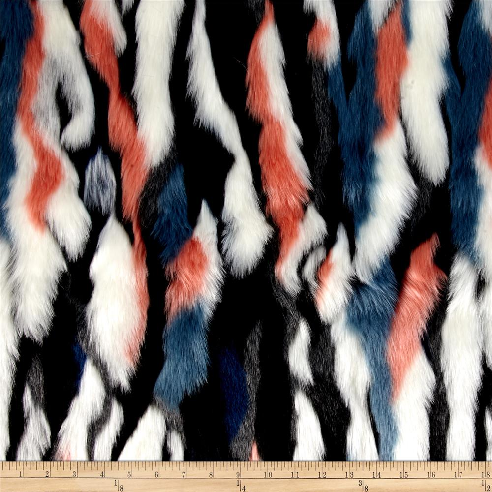 Luxury Faux Fur Himalaya Fur Aztec