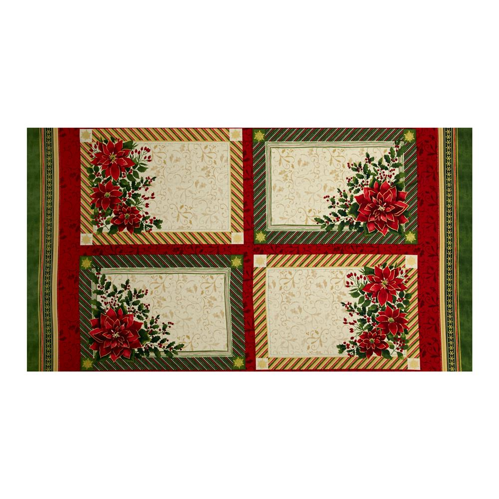 Holiday Traditions Metallic Placemat Panel Multi