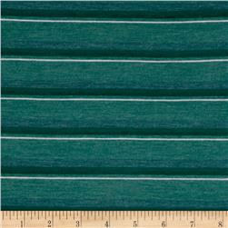 Jersey Knit Teal/Green Stripes
