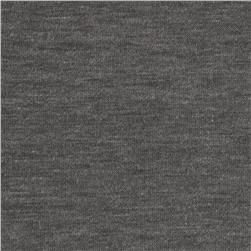 Stretch Jersey Knit Heather Charcoal Fabric