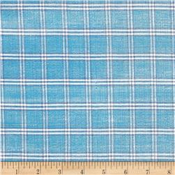 Metallic Shot Cotton Plaid Blue