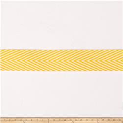 "May Arts 3/4"" Chevron Twill Ribbon Spool Yellow"