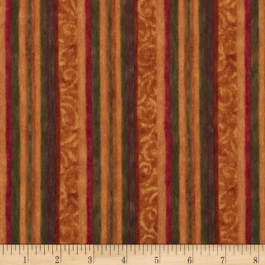 Halvorsen Holiday Flannel Stripe Amber