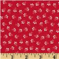 Candy Cane Scattered Flower Red