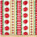 Kanvas Mad For Melon Watermelon Stripe White