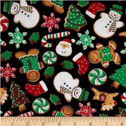 Timeless Treasures Holiday Treats Cookies Multi