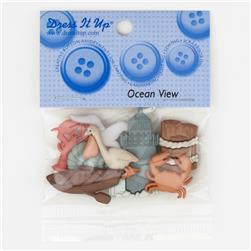 Dress It Up Embellishment Buttons  Ocean View