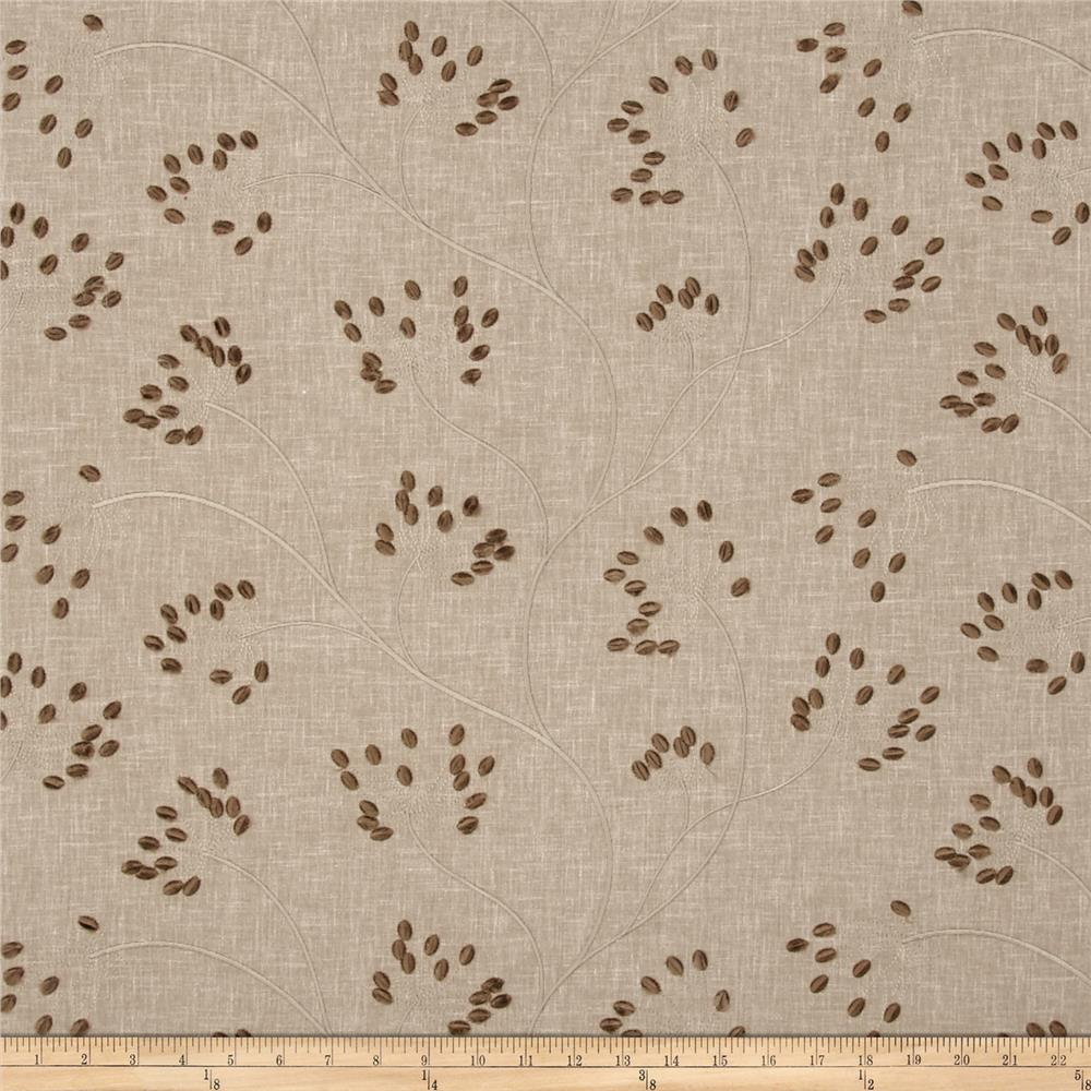 Swavelle/Mill Creek Embroidered Blamont Flax