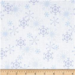 Winter Olympics Snowflakes White