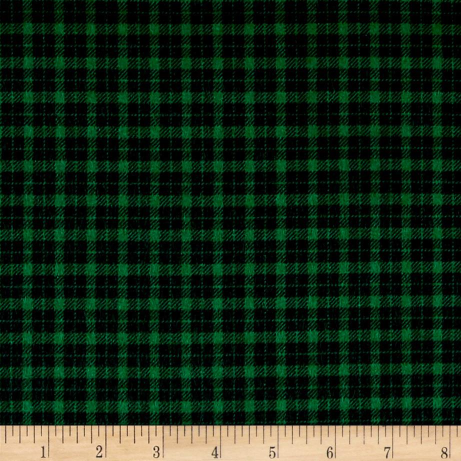 Mad for Plaid Flannel Mini Check Green Fabric