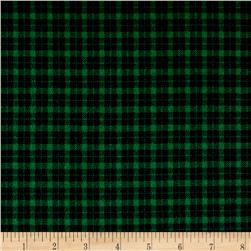 Mad for Plaid Flannel Mini Check Green