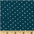 Amanda Stretch Sweater Knit Sparkle Dot Teal