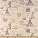 Premier Prints French Stamp Dossett Grapevine/Natural