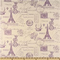 Premier Prints French Stamp Dossett Slub Grapevine/Natural Fabric