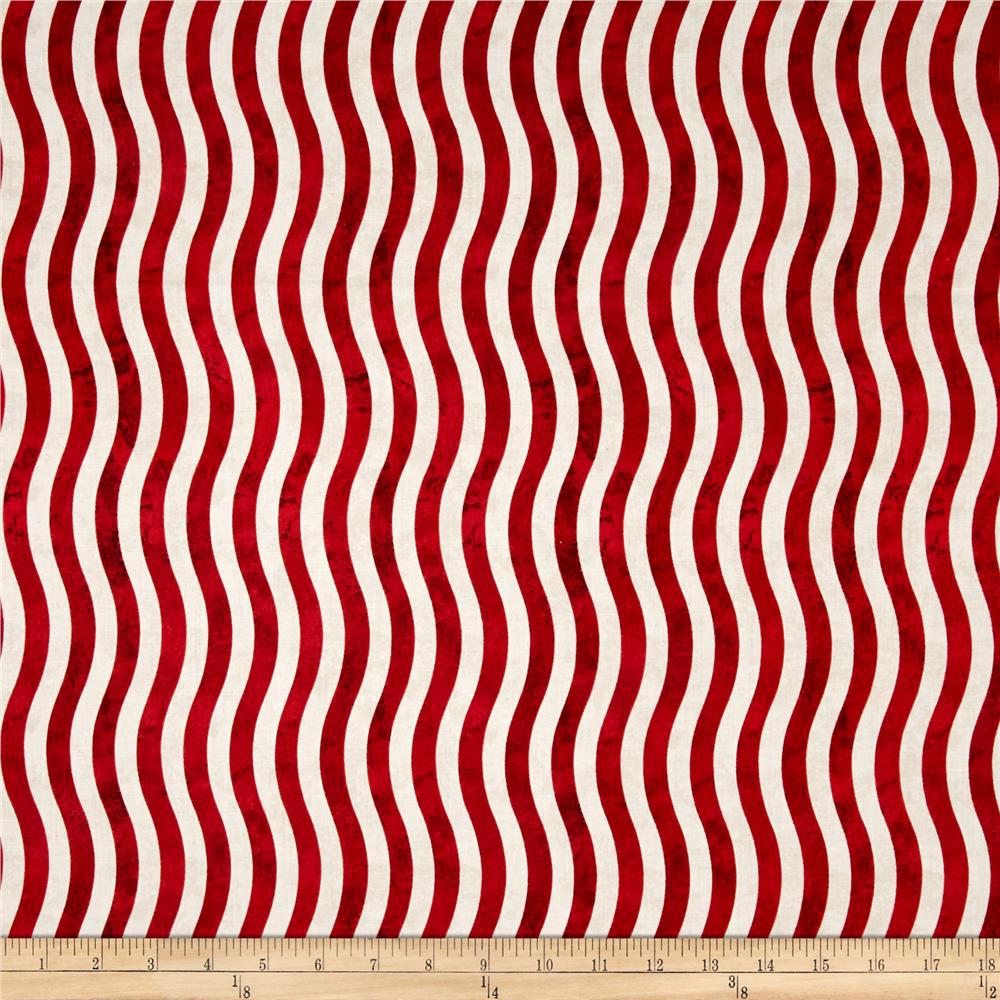 Marblehead Valor Wavy Stripe Red/White - Discount Designer Fabric ... : red and white quilt - Adamdwight.com