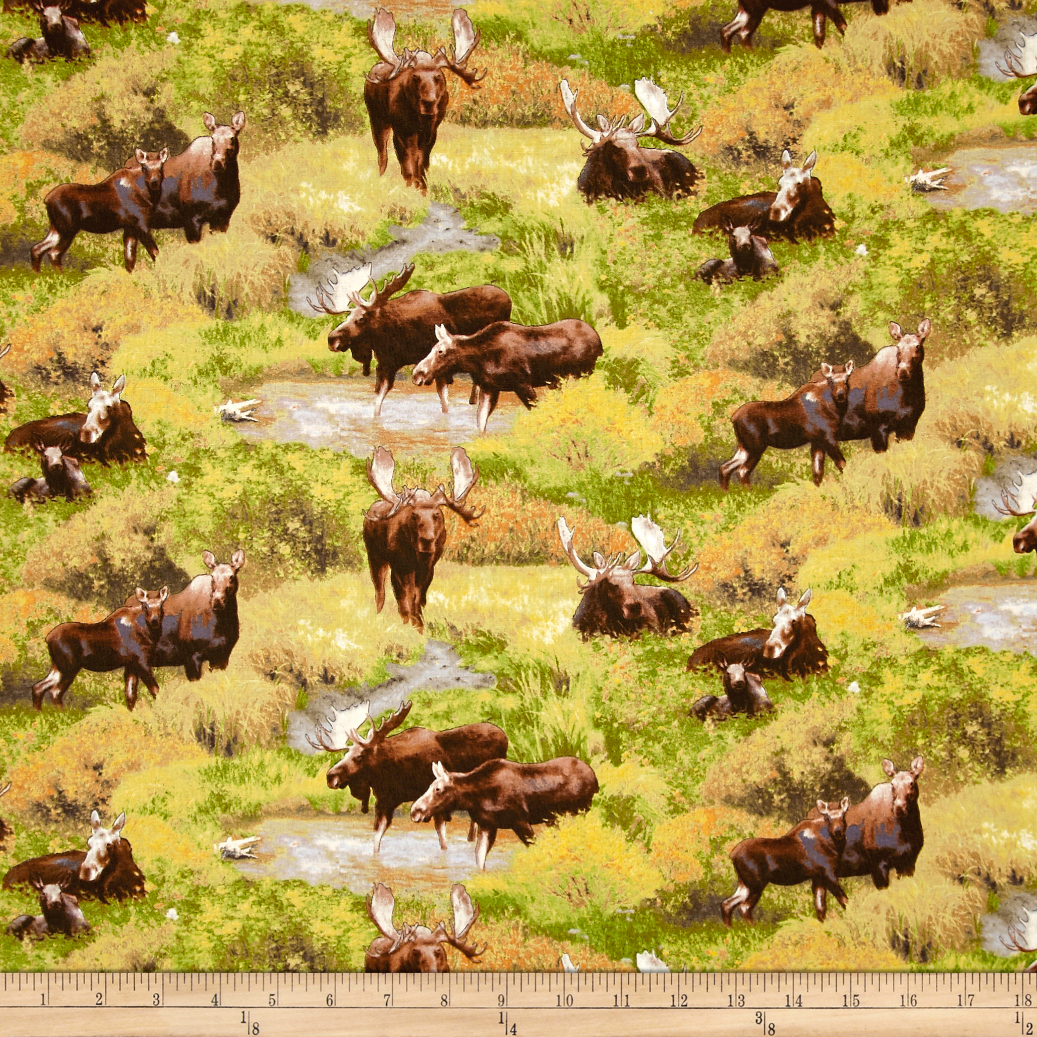 INOpets.com Anything for Pets Parents & Their Pets Moose Scenic Green Fabric