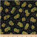 Holiday Accents Classics 2014 Pine Cones Metallic Black