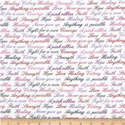 Project Pink  Encouragement Words White/Multi