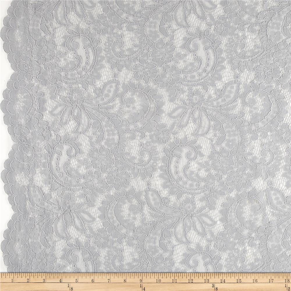 Telio Amelia Stretch Lace Warm Grey Fabric