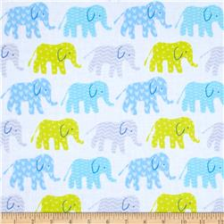 Timeless Treasures Organic Elephants Blue