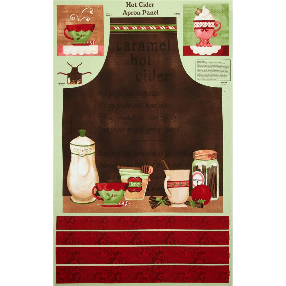 "Hot Cider 30"" Apron Panel Multi"