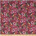 Chiffon Floral Fuchsia/Orange