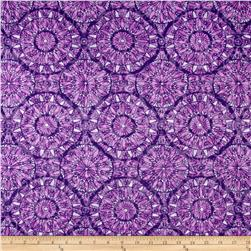 Jersey Knit Round Medallions Purple