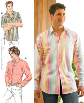 Men's Vintage Reproduction Sewing Patterns Kwik Sew Double Yoke Shirt Pattern $13.29 AT vintagedancer.com
