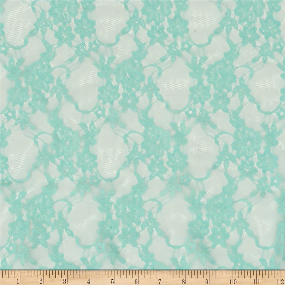Stretch Summer Floral Lace Sky