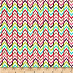 Punch Garden Flannel Mod Chevron Stripes Retro Multi