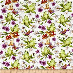 Garden Glory Frogs White
