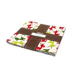 "Robert Kaufman Jingle 10"" Layer Cake Multi"