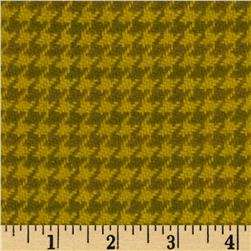 Cozy Yarn Dye Flannel Medium Houndstooth Green