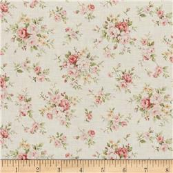 Kaufman Margeaux Pretty Flower Ivory