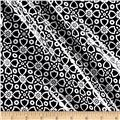 Riley Blake Dot & Dash Laminate Flourish Black