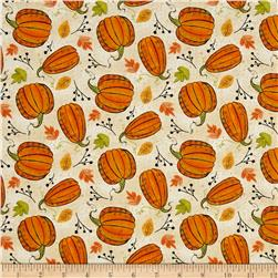 Autumn Road Pumpkins Tan