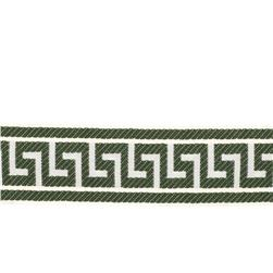 "Fabricut 2.625"" Athens Key Trim Emerald"