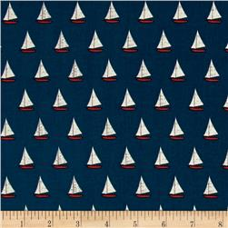 Riley Blake Offshore Sailboat Blue
