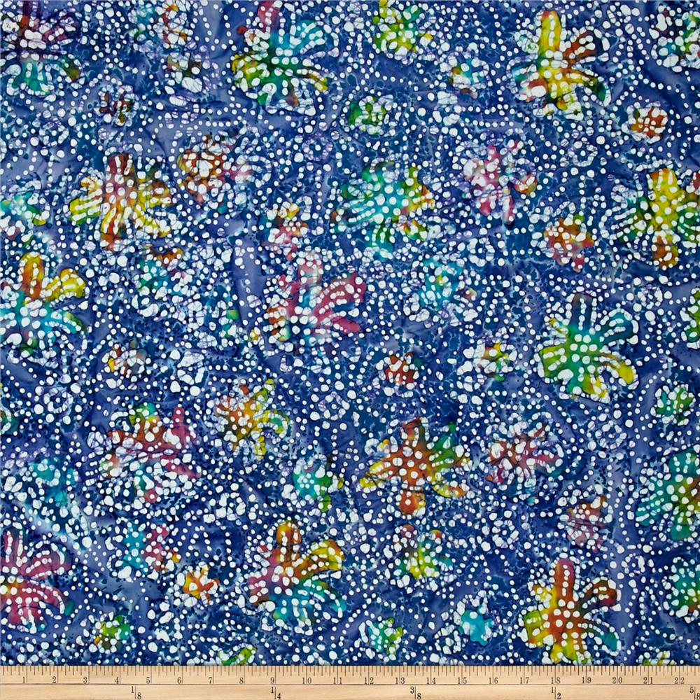 Indian Batik Caledonia Garden Small Floral Blue