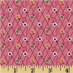 Aunt Grace Miniatures Diamond Floral Pink