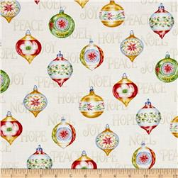 Christmas Elegance Ornaments Cream